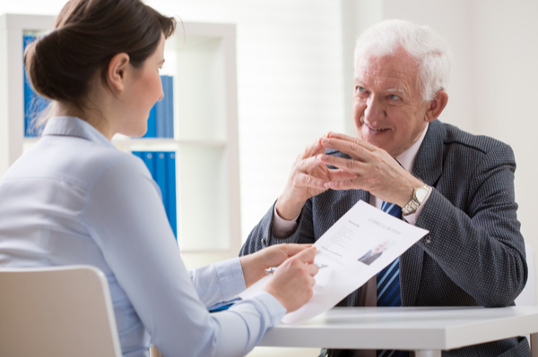 interview with older employee