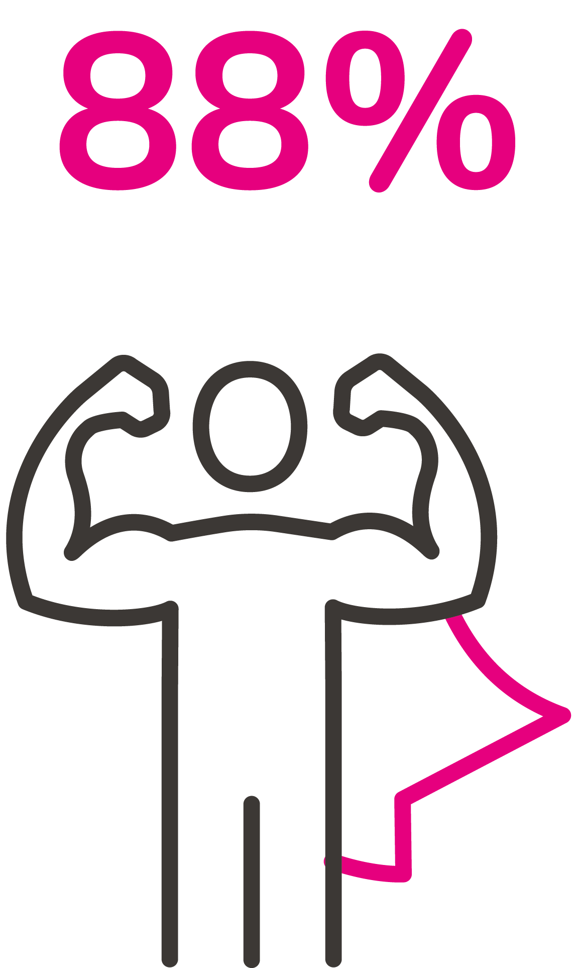 Icon - man with showing muscles