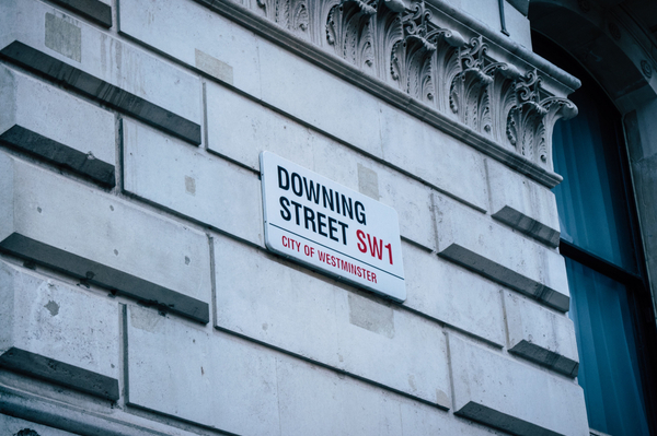 "Signboard with text ""Downing Street"""