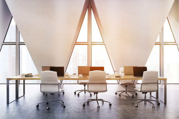 Office space with big table and few chairs