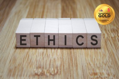 Boxes with ethics written across them
