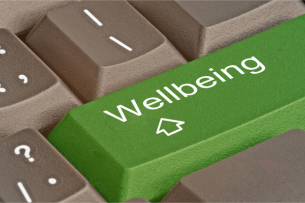 key with the inscription wellbeing