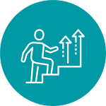 Man going upstairs icon mint