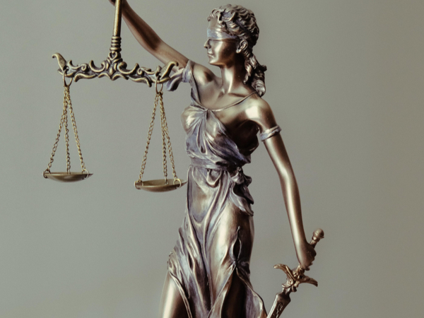 Statue of Lady Justice with her Scales