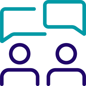icon representing people chatting
