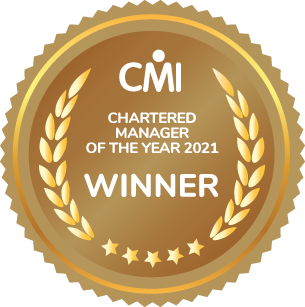 Chartered Manager of the year 2021 badge