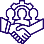 Organisation icon 1-Demonstrates commitment to management consulting