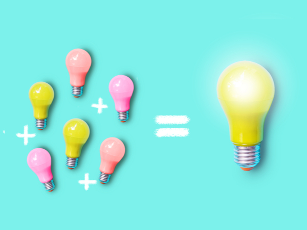 Small lightbulbs added together give the output of a large bulb