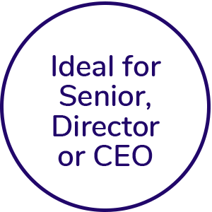 ideal for senior, director or ceo icon