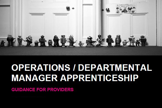 Operational Departmental Manager Apprenticeship Guidance