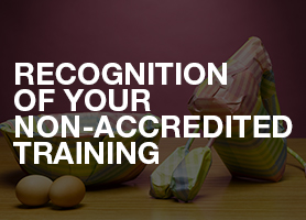 Recognition of your non-accredited training