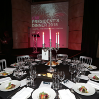 Presidents Dinner Table Setting