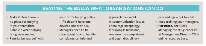 Three tales of workplace bullies and how to stop them - CMI