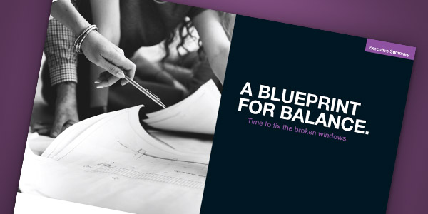 Cover of the CMI Women's Blueprint for balance Executive Summary